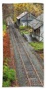 Old Train Station Norwich Vermont Bath Towel