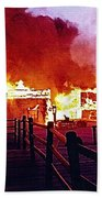 Old Tucson Arizona In Flames 1995  Bath Towel