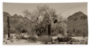 Old Tucson Landscape  Bath Towel