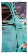 Old Turquoise Truck Bath Towel