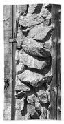 Old Wood Door Window And Stone In Black And White Bath Towel