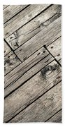 Old Wooden Boards Nailed Bath Towel