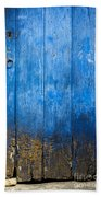 Old Wooden Door Bath Towel
