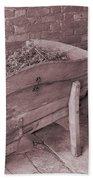 Old Wooden Wheelbarrow Bath Towel