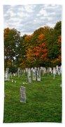 Old Yard Cemetery Stowe Vermont Bath Towel
