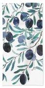 Olive Watercolor 2018 Bath Towel