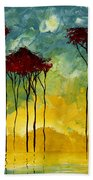 On The Pond By Madart Bath Towel