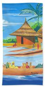 On The Shores Of Lake Kivu In Congo Bath Towel