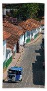On The Streets Of Barichara - 3 Bath Towel