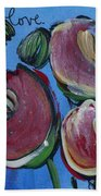 Once Upon A Yoga Mat Poppies 3 Bath Towel