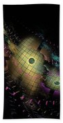 One World No.6 - Fractal Art Bath Towel