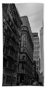 One World Trade Center New York Ny From Nassau Street Black And White Bath Towel