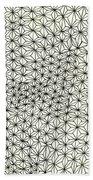 Op Art Abstract Triangle Design Bath Towel