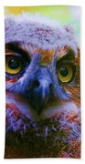 Opalescent Owl Bath Towel