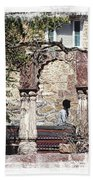 Open Air Bed Among The Arches India Rajasthan 1c Bath Towel