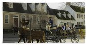 Open Carriage Ride In Colonial Williamsburg Virginia Bath Towel