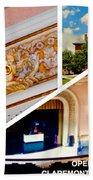 Opera House Diagonal Collage Bath Towel