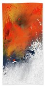Splashes At Sunset - Orange Abstract Art Hand Towel
