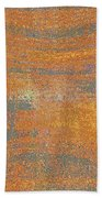 Orange And Gray Abstract Bath Towel