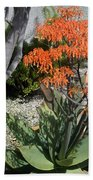 Orange And Pink Exotic Bell Flowers Bath Towel
