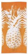 Orange And White Pineapples- Art By Linda Woods Bath Towel