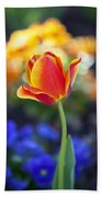 Orange And Yellow Tulip II Bath Towel
