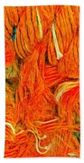 Orange Art Bath Towel by Colette V Hera Guggenheim