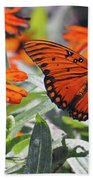 Orange Butterfly Bath Towel
