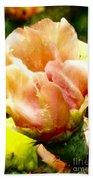 Orange Cactus Blossom Bath Towel