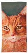 Orange Cat Bath Towel