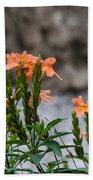 Orange Flower Bath Towel