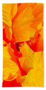 Orange Frills Bath Towel