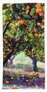 Orange Grove Of Citrus Fruit Trees Bath Towel