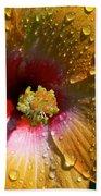 Orange Hibiscus II With Water Droplets Bath Towel