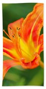 Orange Lily Bath Towel