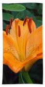 Orange Lily Bath Towel
