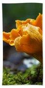 Orange Mushroom Flower On The Forest Floor Bath Towel
