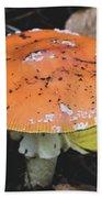 Orange Mushroom Bath Towel