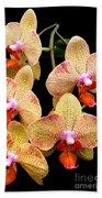 Orange Orchid Phalaenopsis Bath Towel