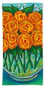 Orange Passion Bath Towel