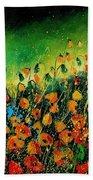 Orange Poppies 459080 Bath Towel