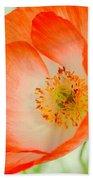 Orange Poppy Offering Nectar Bath Towel