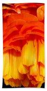 Orange Ranunculus Polar Coordinate Bath Towel