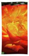 Orange Red Rose Flower Art Prints Giclee Baslee Troutman Bath Towel