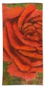 Orange Rose Hand Towel