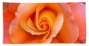 Orange Rosebud Highlight Hand Towel