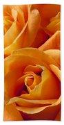 Orange Roses Bath Towel