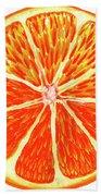 Orange Slice Bath Towel