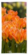Orange Tulips Bath Towel