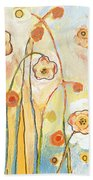 Orange Whimsy Hand Towel by Jennifer Lommers